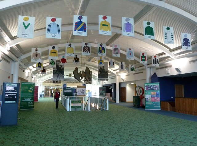 The Hall of Fame at Cheltenham Racecourse in Cheltenham, Gloucestershire, England