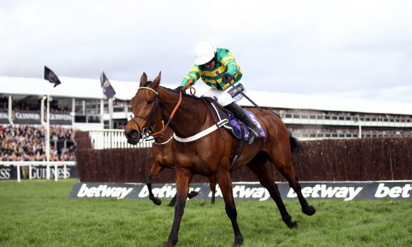 Champ and Barry Geraghty on their way to winning at the 2020 Cheltenham Festival