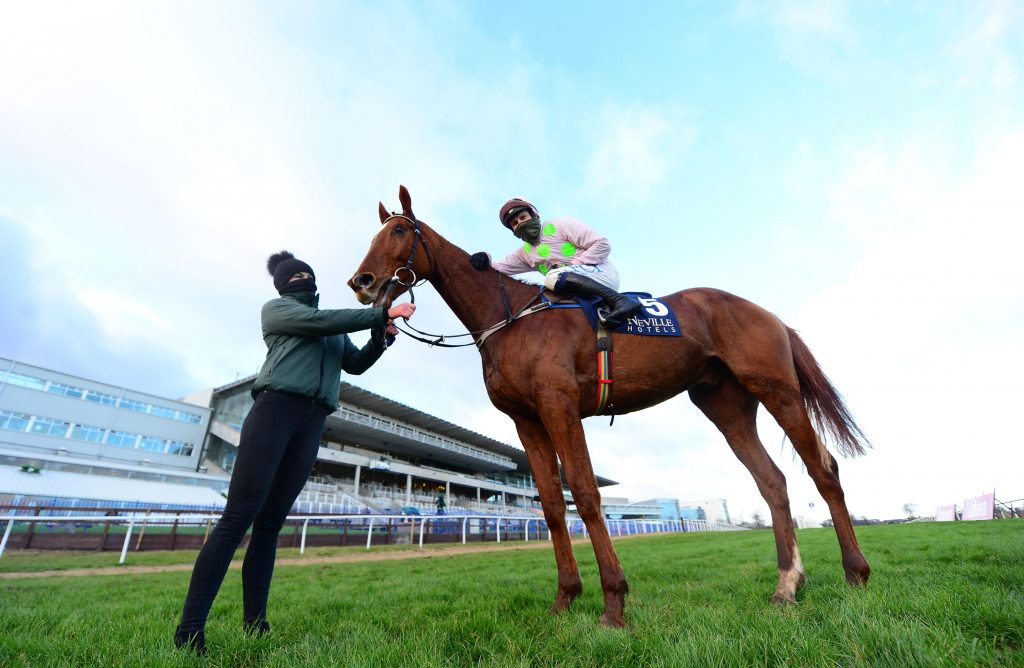 Monkfish and Paul Townend after winning at Leopardstown Racecourse at the Christmas Festival