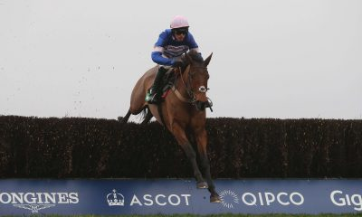 Cyrname and Harry Cobden win at Ascot Racecourse in January 2019