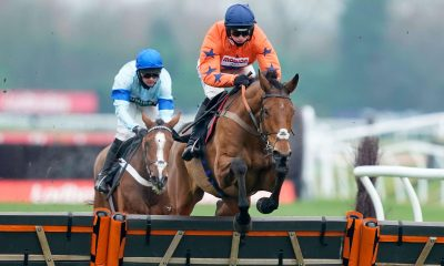 Bravemansgame and Harry Cobden win at Newbury Racecourse in November 2020