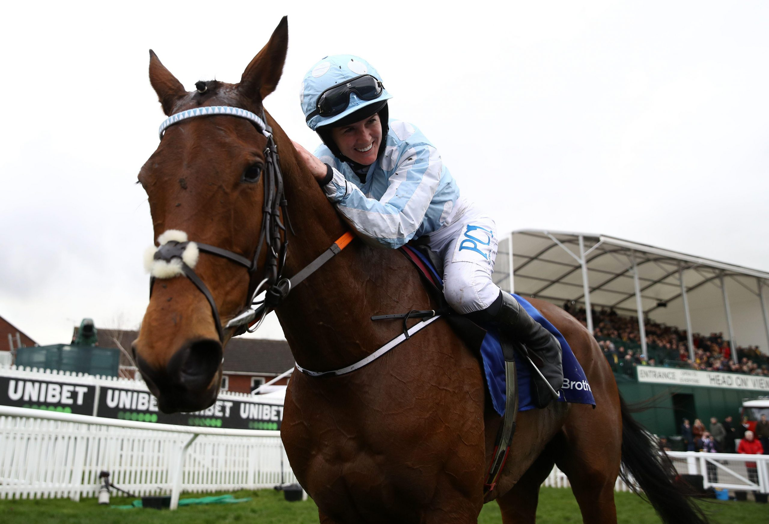 Honeysuckle ridden by Rachael Blackmore following victory in the Close Brothers Mares' Hurdle on day one of the Cheltenham Festival at Cheltenham Racecourse, Cheltenham.