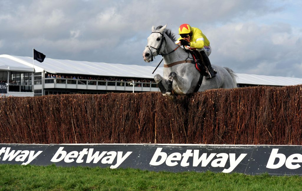 Harry Skelton and Politolouge en route to winning the Queen Mother Champion Chase at the 2020 Cheltenham Festival