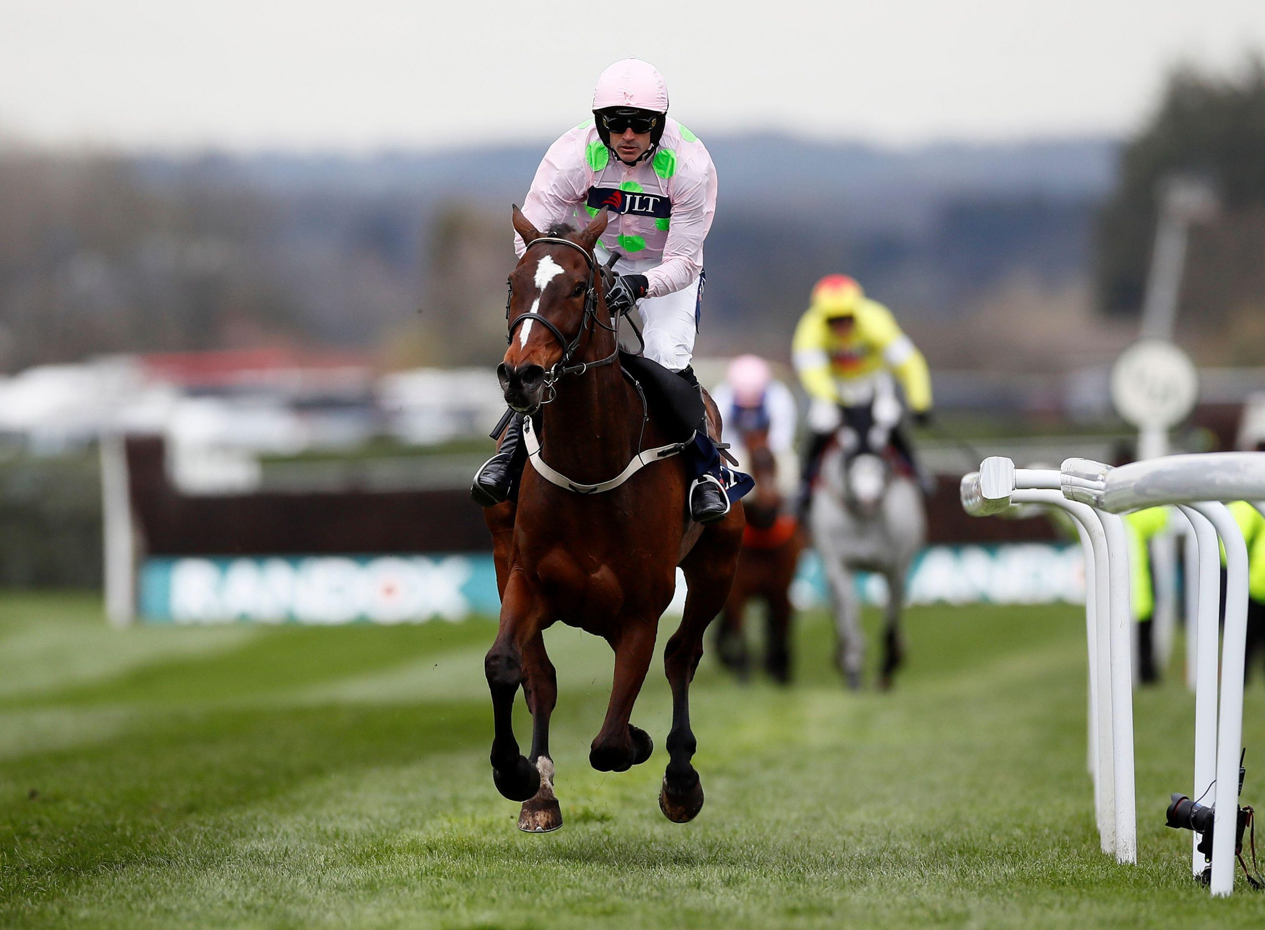 2CN17RT Horse Racing - Grand National Festival - Aintree Racecourse, Liverpool, Britain - April 5, 2019 Ruby Walsh wins the 3.25 JLT Chase on Min Action Images via Reuters/Jason Cairnduff