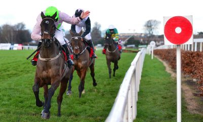 Sharjah and Patrick Mullins winning at Leopardstown Racecourse in December 2020