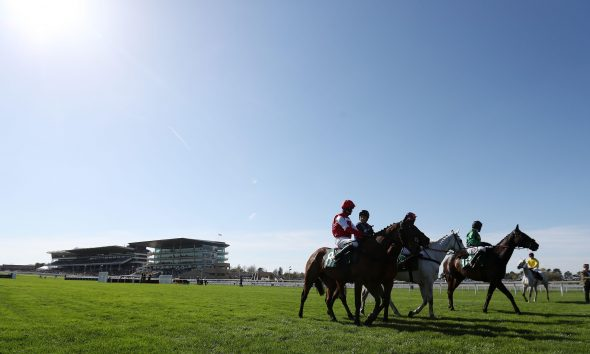 The runners line-up at Cheltenham at The April Meeting