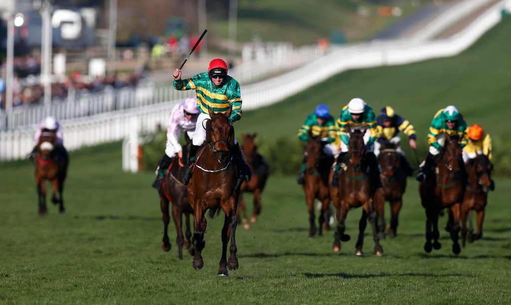Britain Horse Racing - Cheltenham Festival - Cheltenham Racecourse - 15/3/17 Jamie Codd celebrates after winning the 4.10 Glenfarclas Chase on Cause Of Causes Action Images via Reuters / Matthew Childs Livepic EDITORIAL USE ONLY.