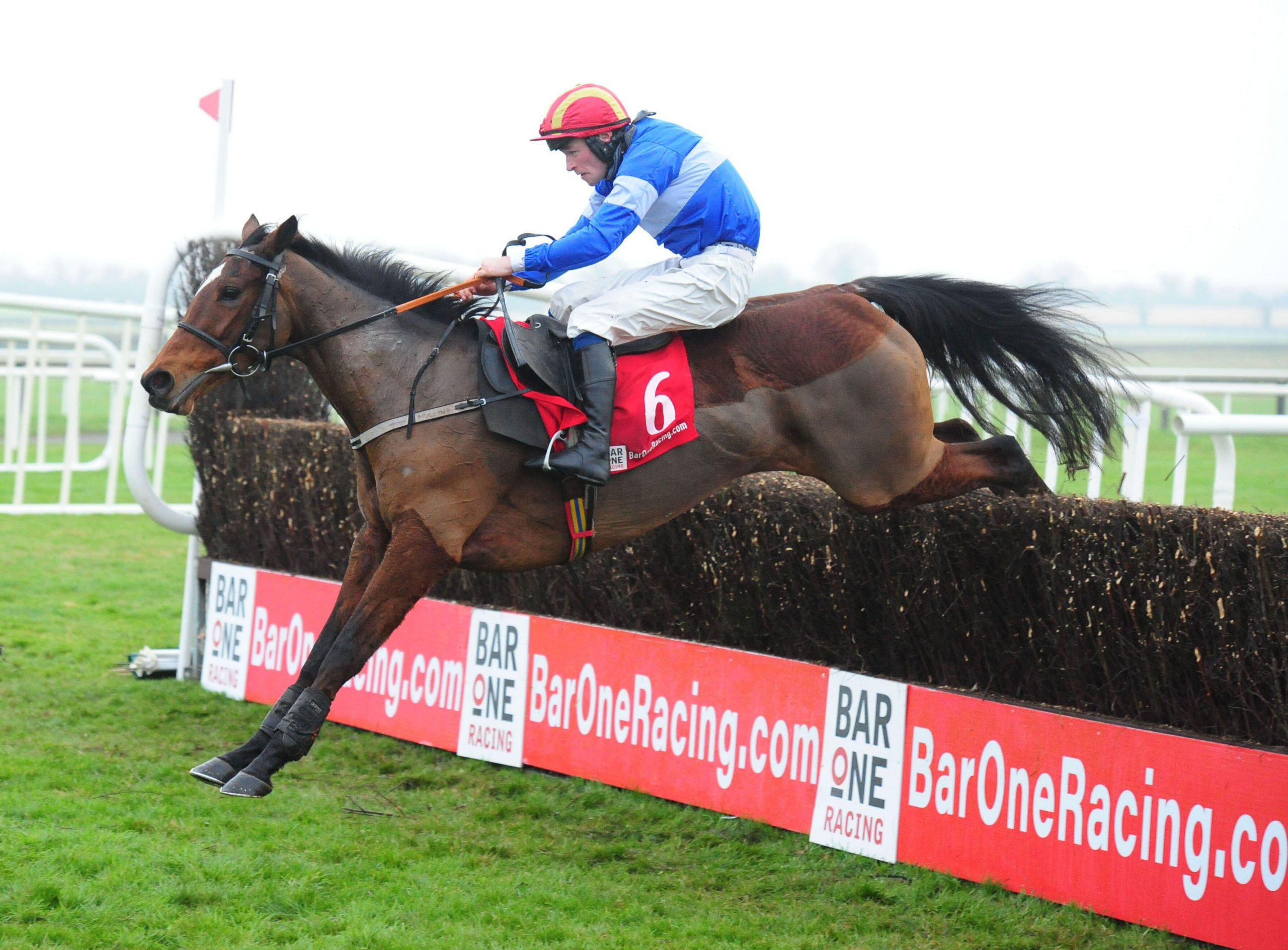 Court Maid ridden by David Mullins wins the BARONERACING.COM Porterstown Handicap Steeplechase at Fairyhouse Racecourse.