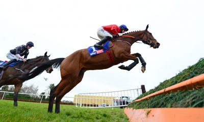 Envoi Allen ridden by jockey Jack Kennedy on their way to winning the Sky Bet Killiney Novice Steeplechase (Grade 3) race at Punchestown Racecourse, County Kildare, Ireland.