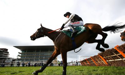 Horse Racing - Cheltenham Festival - Cheltenham Racecourse, Cheltenham, Britain - March 18, 2021 Danny Mullins riding Flooring Porter wins the 3.05 Paddy Power Stayers' Hurdle Pool via REUTERS/Michael Steele