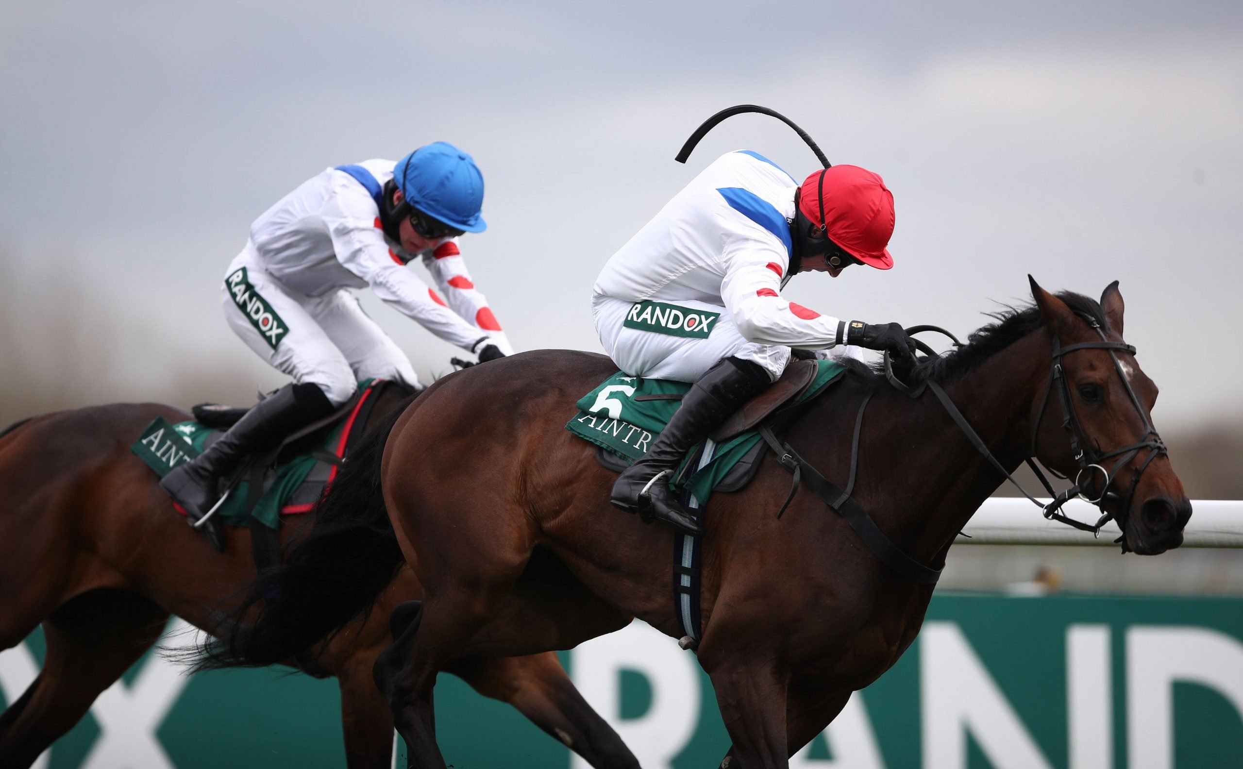 Protektorat ridden by Harry Skelton (right) coming home to win the SSS Super Alloys Manifesto Novices' Chase during the Liverpool NHS Day of the 2021 Randox Health Grand National Festival at Aintree Racecourse, Liverpool. Picture date: Thursday April 8, 2