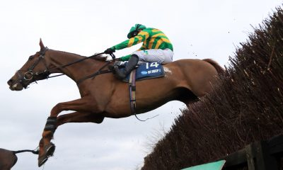 Time To Get Up ridden by Jonjo O'Neill Jr. on their way to winning the Marston's 61 Deep Midlands Grand National at Uttoxeter racecourse. Picture date: Saturday March 20, 2021. See PA story RACING Uttoxeter. Photo credit should read: Mike Egerton/PA Wire.