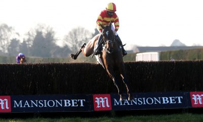 Tinkers Hill Tommy ridden by Richard Patrick clears a fence on their way to winning the MansionBet Faller Insurance Conditional Jockeys' Veterans' Handicap Chase at Hereford Racecourse, Hereford. Picture date: Sunday February 28, 2021.