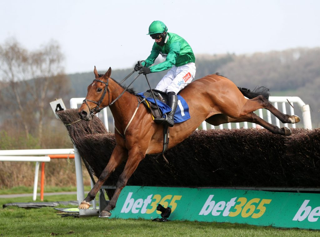 Ballymoy ridden by Daryl Jacob clears the last before winning the Boyne Cup at Ludlow Racecourse. Picture date: Wednesday March 31, 2021.