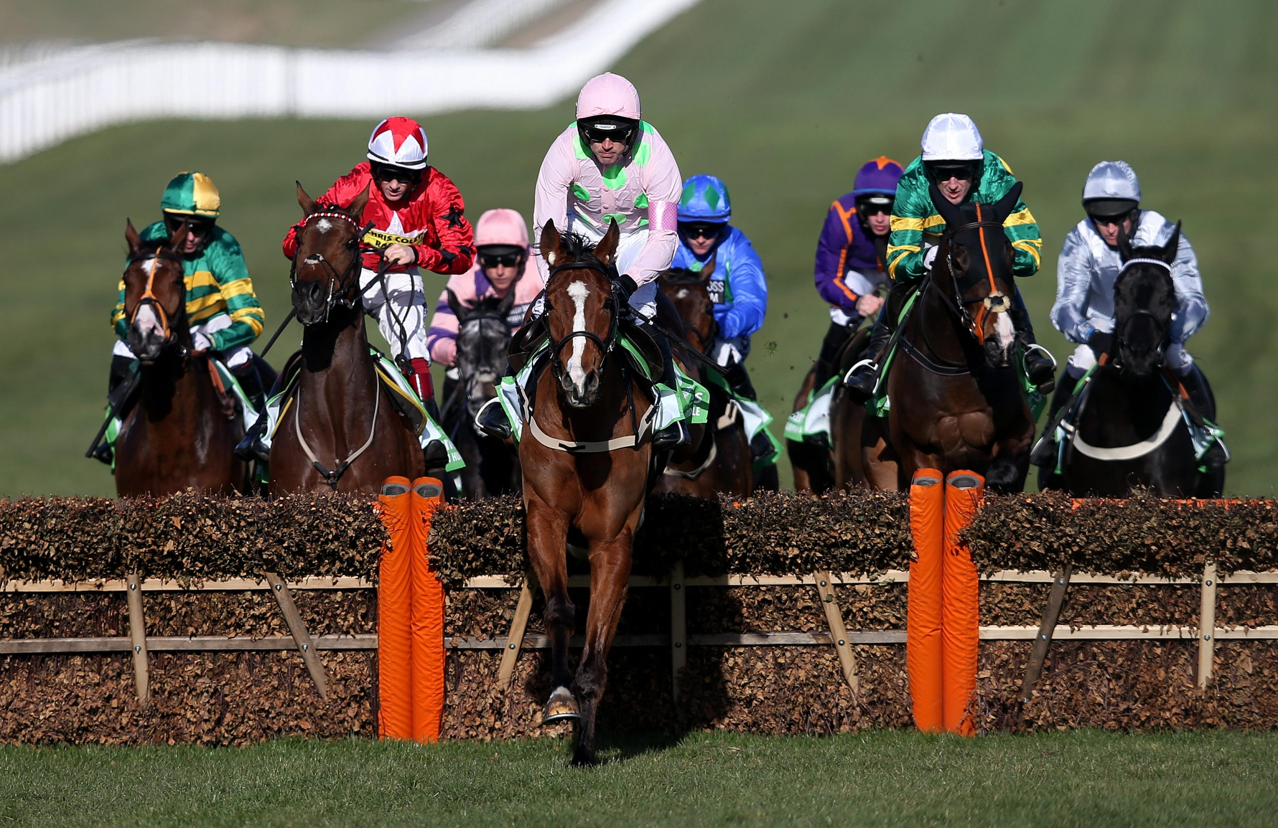 Faugheen ridden by Ruby Walsh on their way to victory in the Stan James Champion Hurdle Challenge Trophy