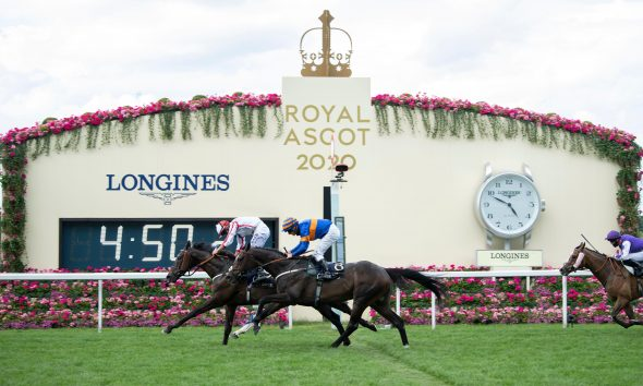 2C3J19G Who Dares Wins ridden by Tom Marquand wins the Queen Alexandra Stakes during day five of Royal Ascot at Ascot Racecourse.
